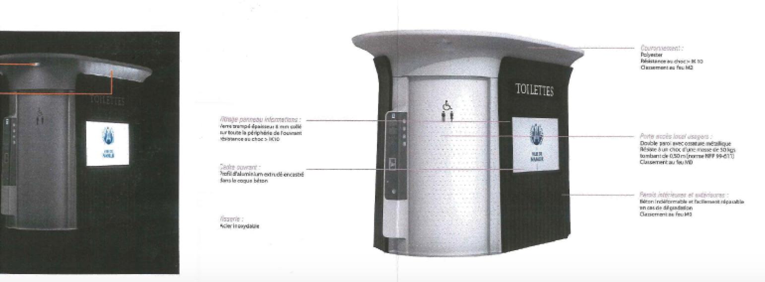 Toilettes publiques : octroi du permis d'urbanisme