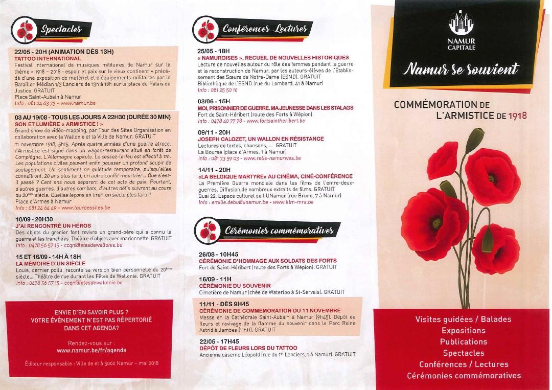 Commémorations 14-18 : Namur se souvient